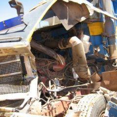 Авария карьерных грузовиков
