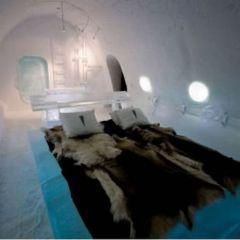 Красивый ледянной отель