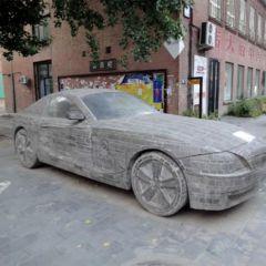 BMW Z4 из камня в Пекине