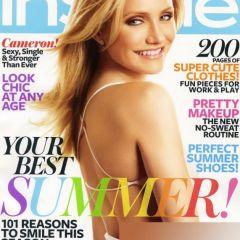 Фото Камерон Диаз (Cameron Diaz) на обложке журнала Instyle Magazine, июль 2010