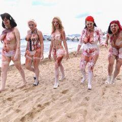 Зомби на пляже в Каннах