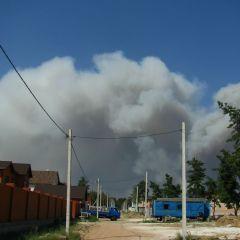 Лесные пожары на востоке Украины