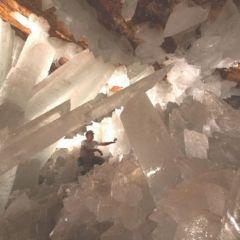 Гигантская хрустальная пещера в пустыне Чиуауа в Мексике