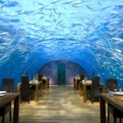 Подводный ресторан на Мальдивских островах