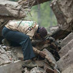 Обрушение дома в Индии