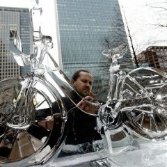 Велосипед изо льда