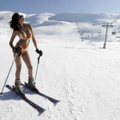 Венесуэльские модели на снегу