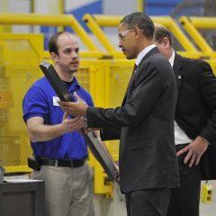 Визит Обамы на предприятия Висконсина