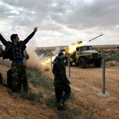 Ливийская битва в Рас-Лануф