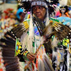 Собрание индейцев Пау-вау
