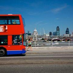 Вид на Лондон с чертового колеса
