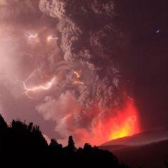 Чилийское извержение вулкана Пуйеуэ