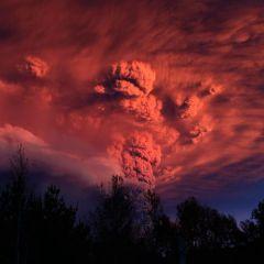 Чилийский вулкан Пуйеуэ