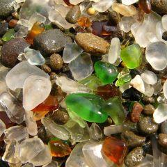 Калифорнийский стеклянный пляж