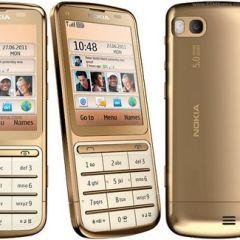 Золотая мобила Nokia C3-01 Gold Edition