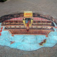 Британский художник Julian Beever  и его 3D картины на асфальте