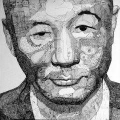 Множество рисунков в одном портрете