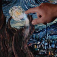 Анимированая версия картины Ван Гога