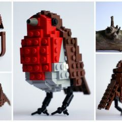 6 британских птиц из Лего