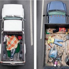 Портреты людей в грузовиках
