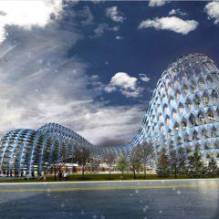 Концепт железнодорожной станции в столице Казахстана