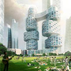 Необычный комплекс небоскребов в Сеуле