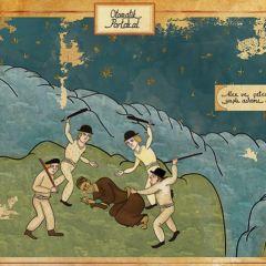 Иллюстрации к фильмам в стиле турецких миниатюр