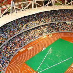 Лондонский стадион из Lego