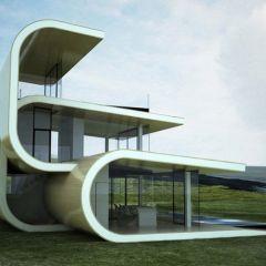 Дом в форме волны