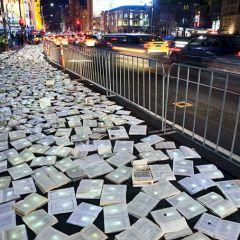 Инсталляция из книг в Австралии