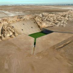 Проект стадиона на песке в ОАЭ