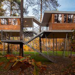 Бельгийский дом в лесу от Baumraum