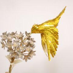 Колибри из золотой бумаги из Колумбии
