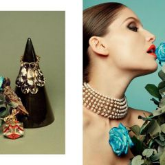 Фотосессия Laetitia Casta в нарядах от Dior Haute Couture