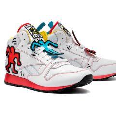 Рисунки Кита Харинга на кроссовках Reebok