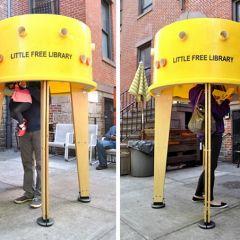 Уличная библиотека в Нью-Йорке