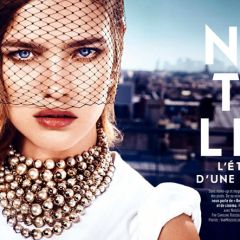 Наталья Водянова в Glamour France
