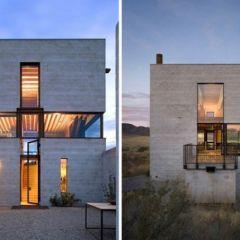 Дом Idaho Outpost в американской пустыне