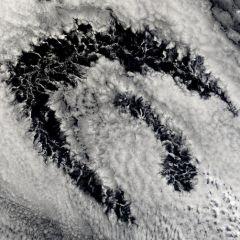 Явление под названием Actinoform Clouds