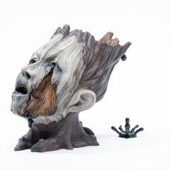 Керамические скульптуры, сделанные под дерево
