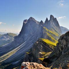 Пейзажи Доломитовых гор