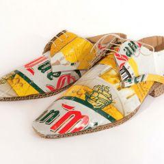 Креативная картонная обувь