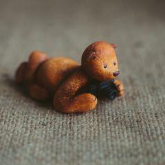 Мишки из глины