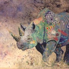 Носорог из ткани
