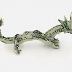 Манигами: оригами из денег