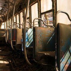 Заброшенная стоянка трамваев