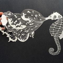 Невероятные бумажные фигурки Maude White
