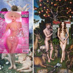 Обложки журналов на известных полотнах