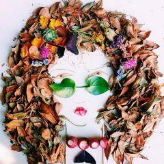 Цветочные портреты Justina Blakeney