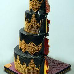 Тортик в форме кишок и других внутренностей